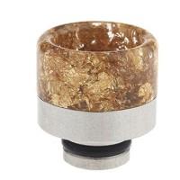 Drip Tip 510 Resin gold + Edelstahl 16 mm