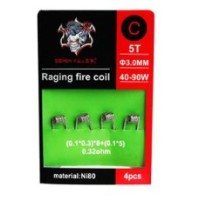 4x Raging Fire Coil N80 C 0.32ohms - Demon Killer