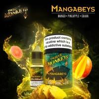 3x 10ml Mangabees -Twelve Monkeys 70 VG TPD2