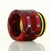 Drip Tip 810 Snake Gold Base Epoxy Resin mit 2 Oringen
