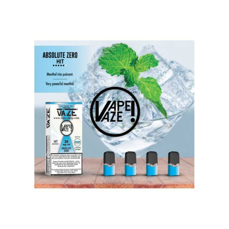 Vaze - Absolue Zero - 4 Pack Pods TPD2 20mg