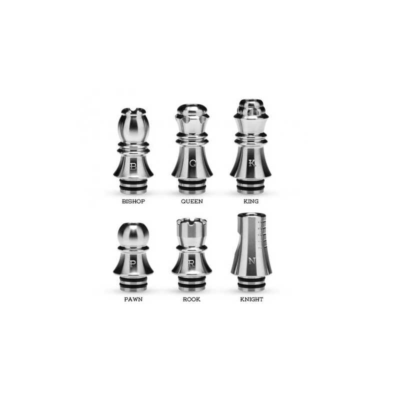 6x Kizoku Chess 510 Drip Tip Series