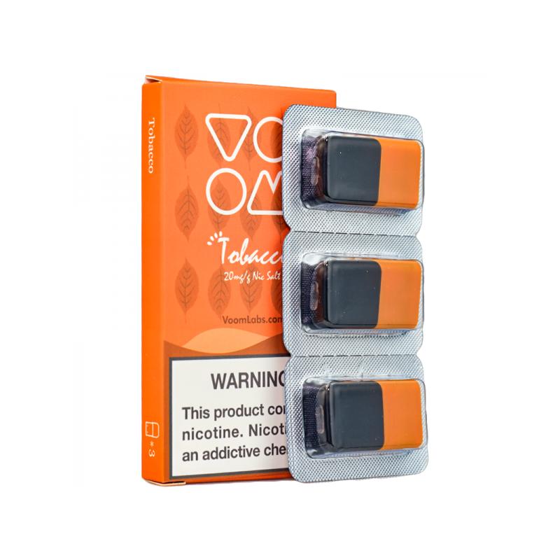 Voom Pod Salts - Tobacco 20 MG (3-er Pack)