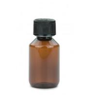 100 ml PET Flasche mit Kindersicherung - Braun -