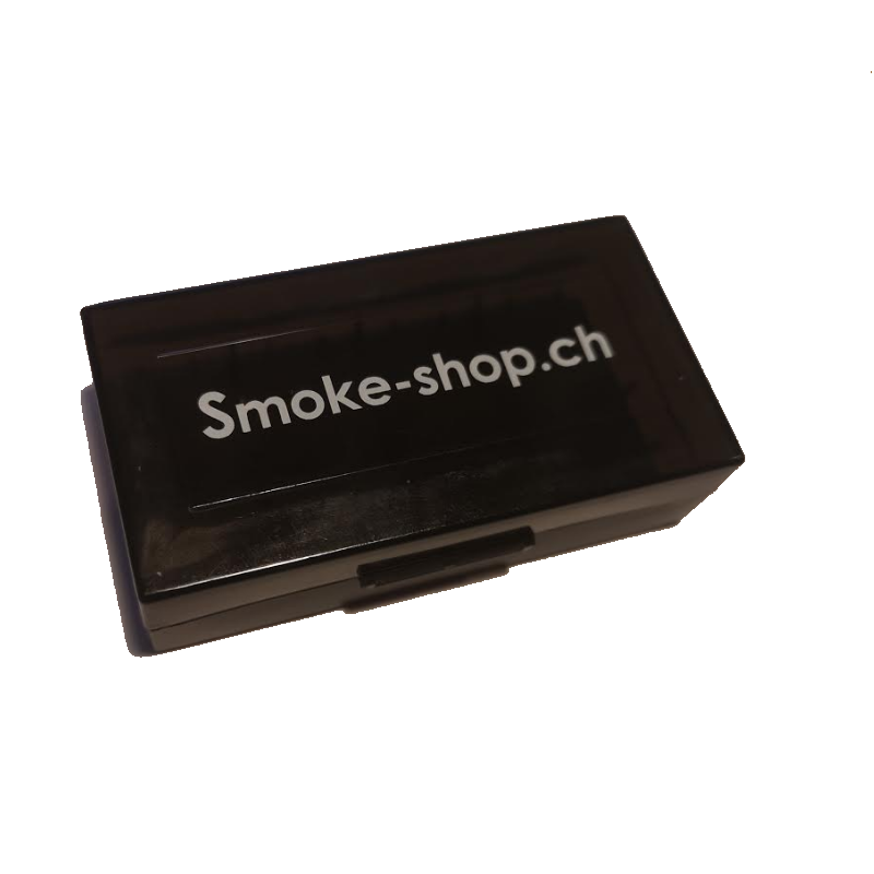 Smoke-Shop Aufbewahrungsbox 2x 18650 Akkus schwarz