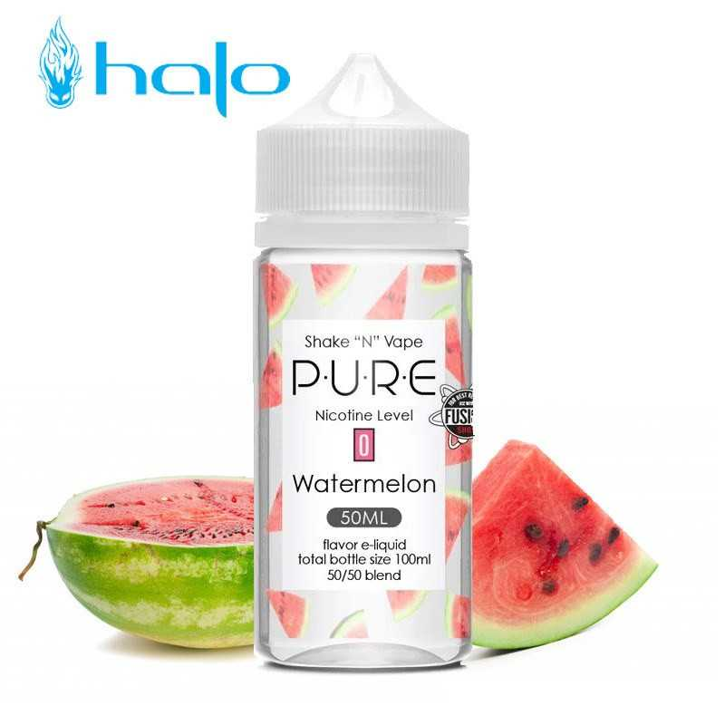 50 ml WATERMELON PURE 00MG von Halo USA
