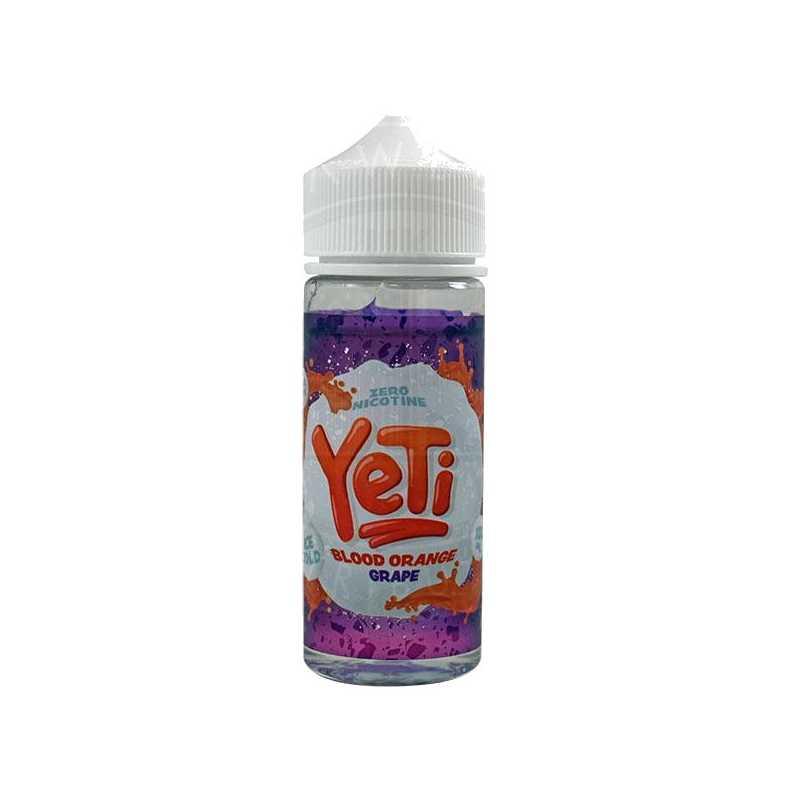 YETI ICE COLD BLOOD ORANGE GRAPE 0MG 100ML SHORTFILL