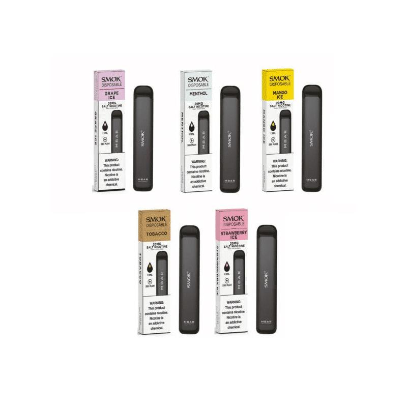 SMOK MBAR Disposable Kit 20mg (nicht aufladbar) NEUE Geschmäcker !