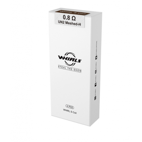 Whirl S Coils von Uwell (4er Pack) 0.8 ohm UN2 Meshed-H