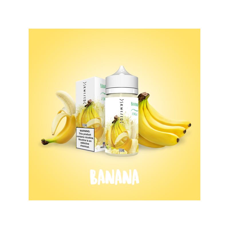 Skwezed - Banana - 0mg 100ml Shortfill