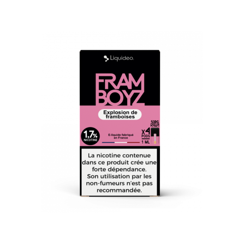 Pods Framboyz 4x1ml Wpod - Nikotin Salz Pods TPD2 20mg von Liquideo