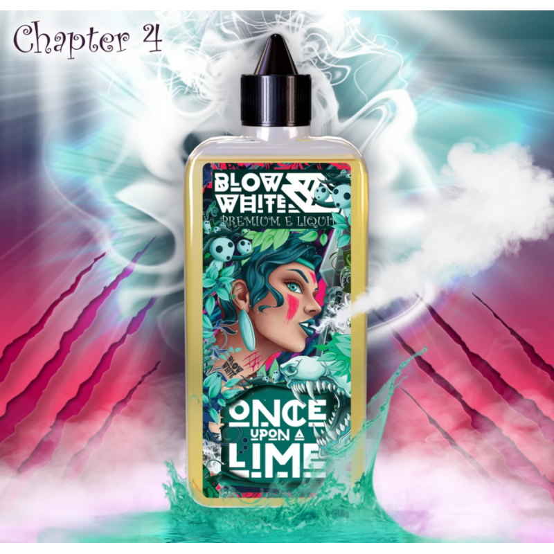 Blow White - One upon a Lime 0mg 80ml Shortfill