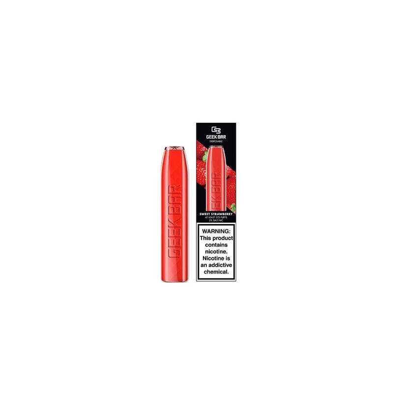 Geek Bar Disposable Device Sweet Strawberry 2% Salt Nic/2.0ml (Einweg E-Zigarette)