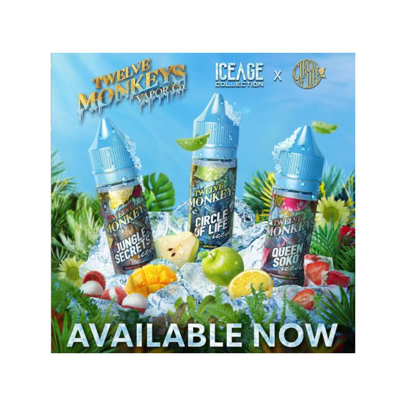 Jungle Secret -ICE -Monkey Mix 50ML -Twelve Monkeys Mango Lychi